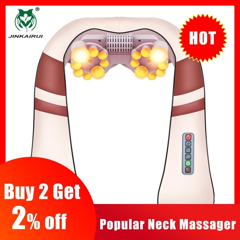 jinkairui u shape electrical shiatsu back neck shoulder massager and  infrared 4d kneading body spa