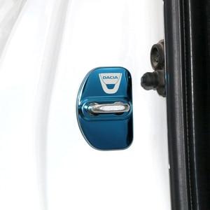 Image 5 - Auto Styling auto türschloss abdeckung Auto Embleme Fall Für Dacia Sandero MK2 Stepway 2017 Zubehör Auto Styling 4 stücke