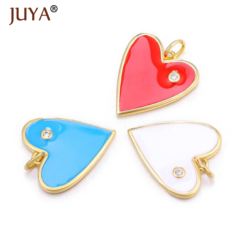JUYA Cute Heart Shaped Charms Trendy Star/Moon/Eyes Charms Pendants for Jewelry Making DIY Woman Necklace Making Accessories(China)