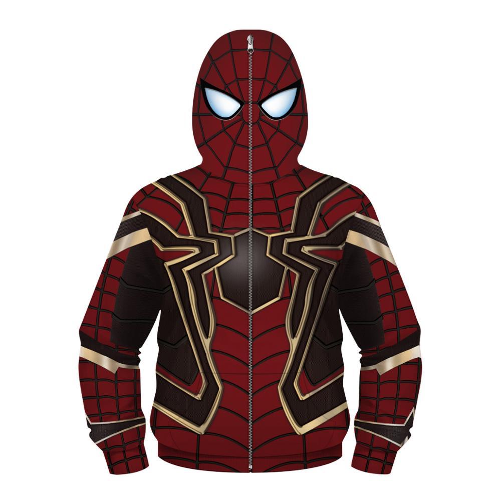 Spiderman Kid/'s 3D Print Hooded Pullover Sweater Jacket Long Sleeve Hoodie