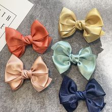 1PC New Colorful Kids Baby Hair Clips For Girls Big Bows Children Hairpin Haarspeldjes Barrettes Baby Hair Accessories For Girls