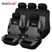 Autoyouth marca bordado tampas de assento de carro conjunto universal caber a maioria dos carros cobre com pneu trilha detalhe estilo protetor de assento de carro