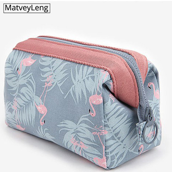 Travel Make Up Bags Animal Flamingo Cosmetic Bag  Beauty Wash Organizer Toiletry Storage Girl Function Makeup Case - discount item  29% OFF Special Purpose Bags