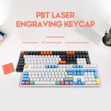 Mekanik klavye Keyscap karbon PBT OEM profil 108 tuşları kiraz MX GK61 Anne Pro 2 caz NOPPOO IKBC GANSS RK KBT FICO
