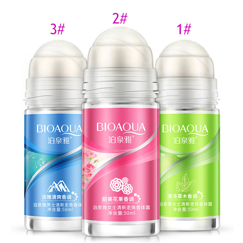 New BIOAQUA Ball Body Lotion Antiperspirants Underarm Deodorant Roll On Bottle Women Fragrance Men Smooth Dry Perfumes SCI88
