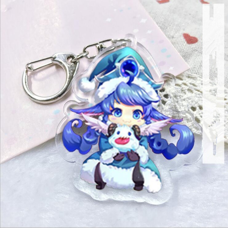 League Of New Legends Riven Acrylic Keychain LOL LUX Fae Sorceress Lulu Sona Buvelle Pendants Keyring Cosplay Llavero Chaveiro