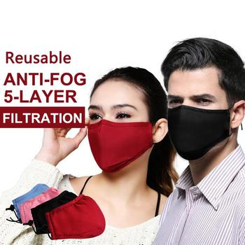 New PM2.5 Anti-Dust Face Masks Smoke Gas and Allergies Adjustable and Reusable Protection with removable Activated Carbon Filter 1