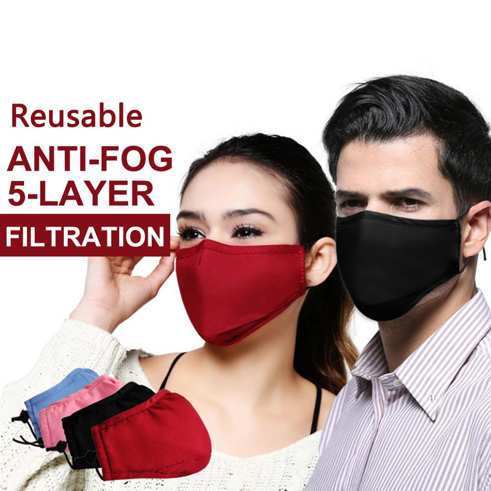 New PM2.5 Anti-Dust Face Masks Smoke Gas And Allergies Adjustable And Reusable Protection With Removable Activated Carbon Filter