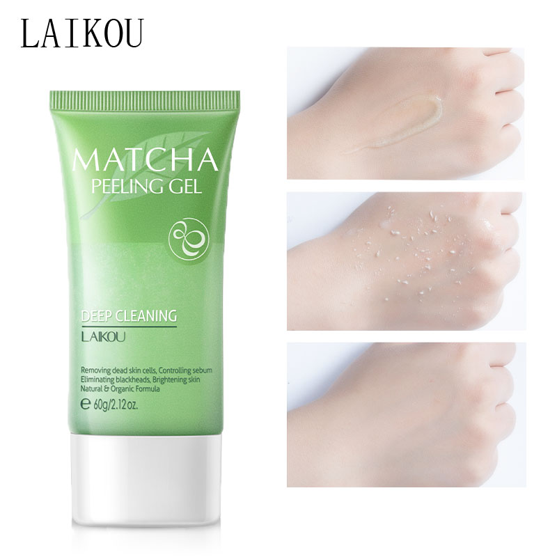 LAIKOU Tea Tree Exfoliator Face Cream Whitening Moisturizing Facial Scrub Gel Peeling Smooth Leg Arm Knee Repair Body Scrub 60g
