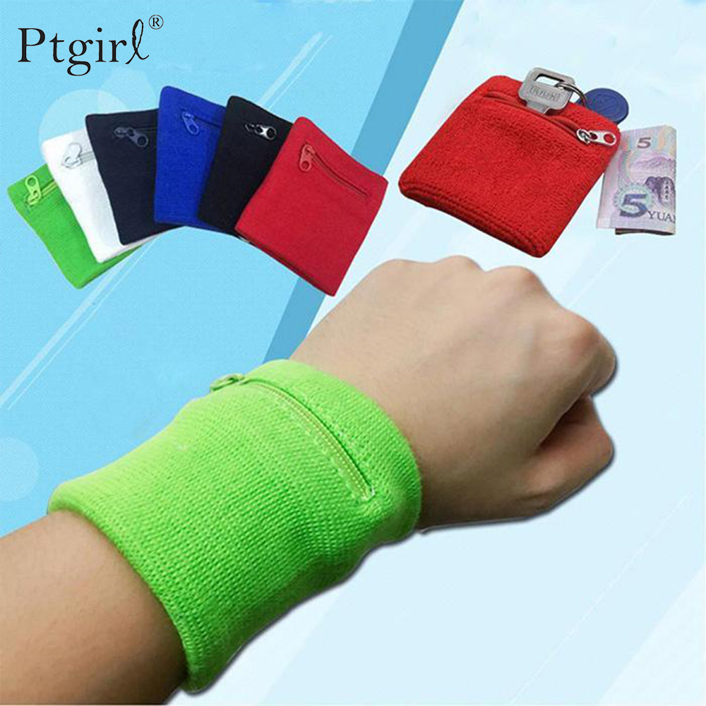 Zipper Wrist Wallet Pouch Running Sports Arm Band Bag For MP3 Key Card Storage Bag Ptgirl Badminton Basketball Wristband Bags