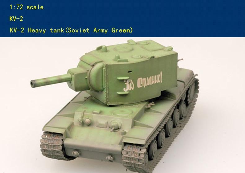 Finished Military Model 1:72 KV2 Soviet Union Heavy Tank KV-2