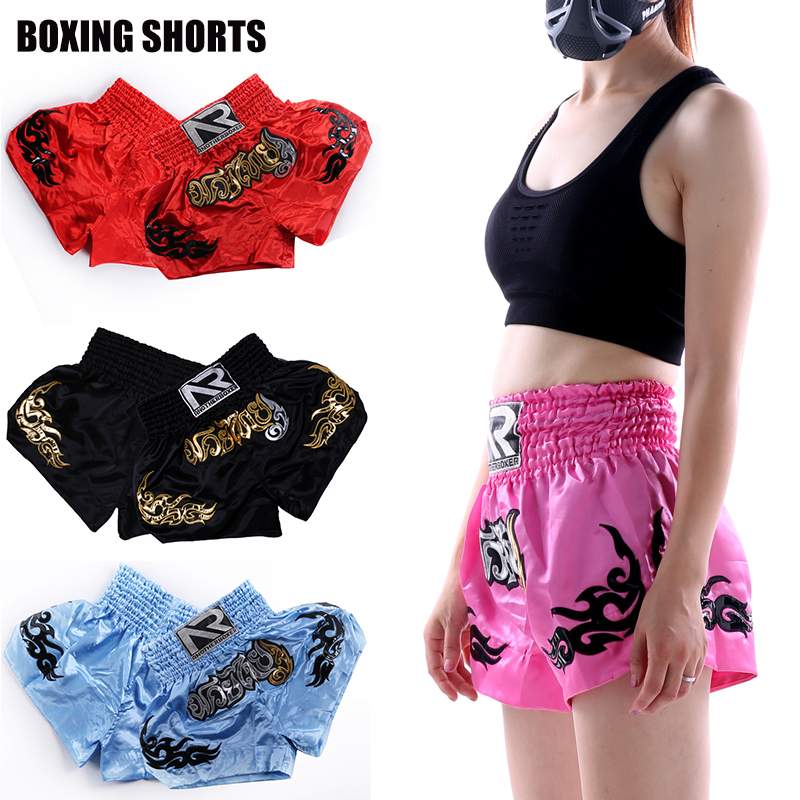 Muay Thai Fight Shorts Mens MMA Grappling Boxing Short Women Children Kick Boxing Cage Trunks Martial Arts Training Gym Wear