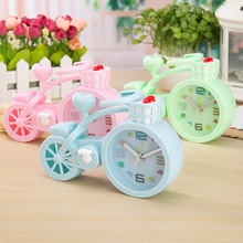 Thicken Candy Color Creative Bicycle Alarm Clock Student Gift Birthday Crafts 3