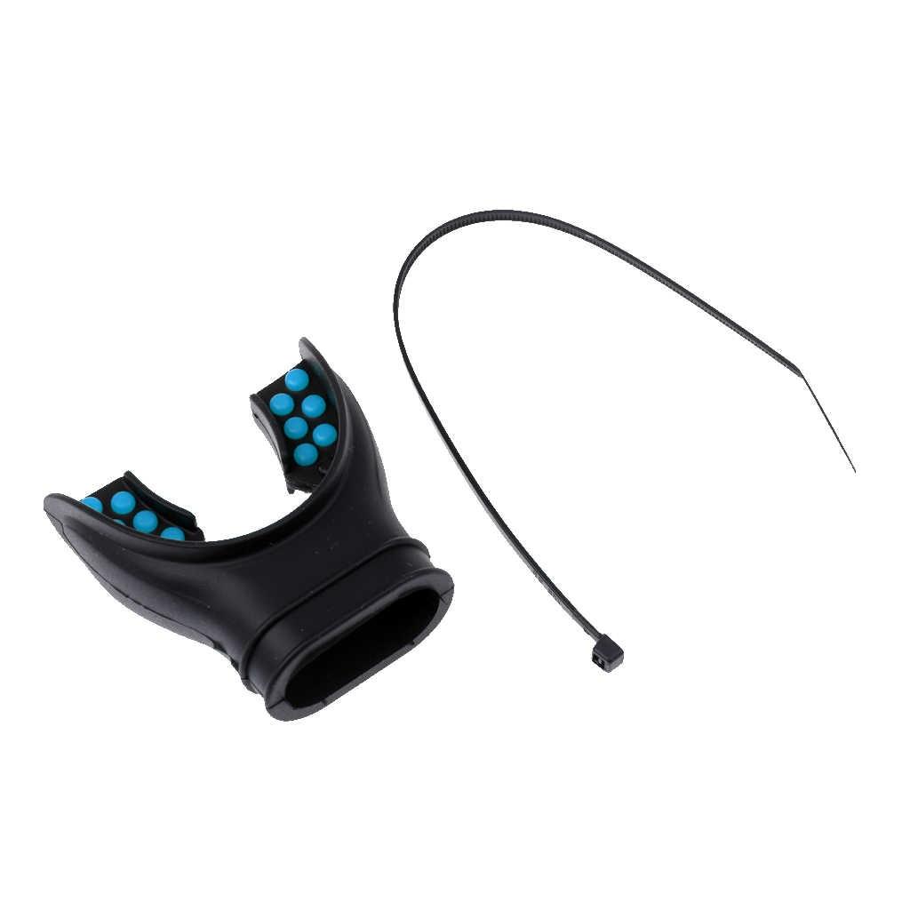 Vervanging Duiken ultralichte Comfort Siliconen Mondstuk met Kleur Tab & Regulator Tie
