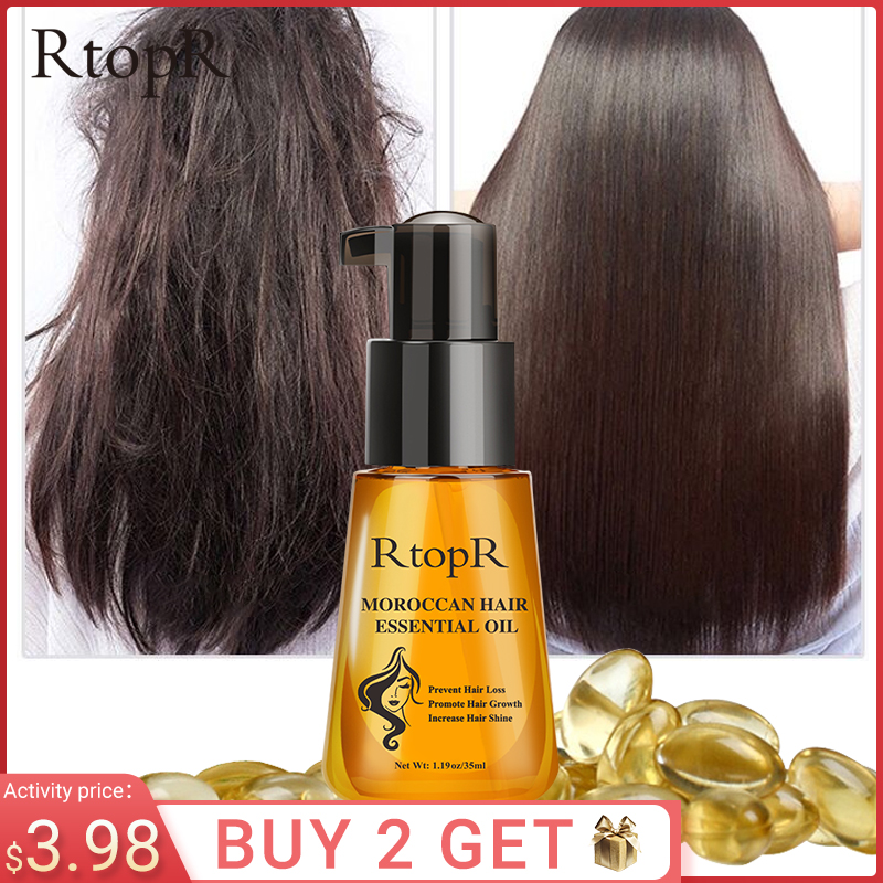 Moroccan Prevent Hair Loss Product  Hair Growth Essential Oil Easy To Carry Hair Care Nursing 35ml Both male and female can use