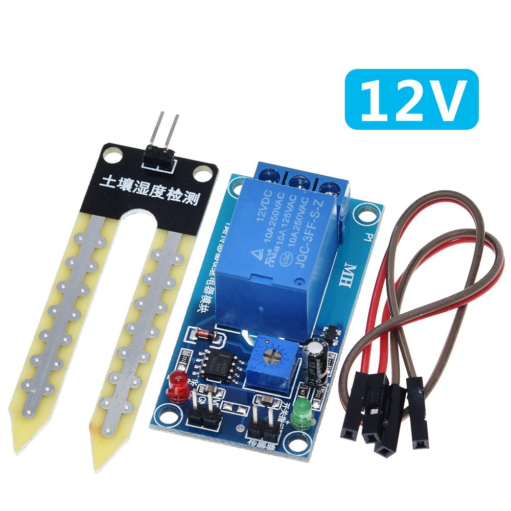Image 4 - DC 5V 12V soil moisture sensor relay control module Automatic watering of the humidity starting switch-in Sensors from Electronic Components & Supplies