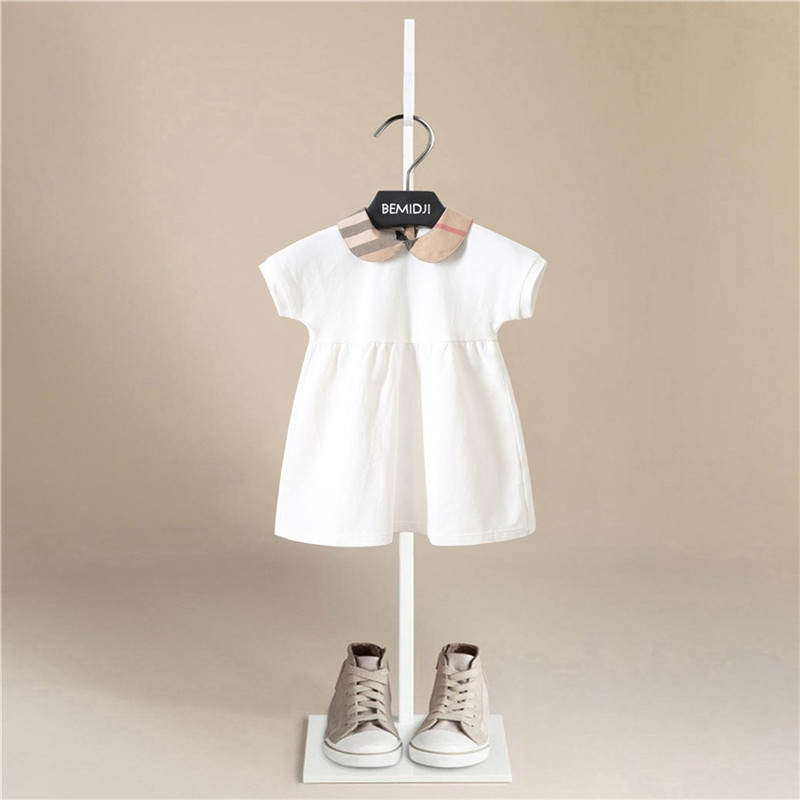 Baby Clothing Baby Girls Dresses Summer Short Sleeve Baby Girl Female Cotton Dress Baby Cotton Princess Girls Christmas Dress