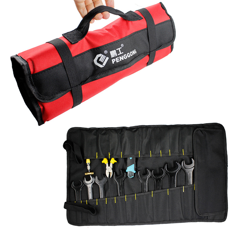 Multifunction Tool Bags Oxford Cloth Folding Wrench Bag Tool Roll Storage Pocket Tools Portable Case Organizer Holder Chisel Bag