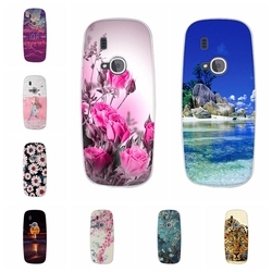 Fundas Bumper For Nokia 3310 2017 Silicone Pattern 3D Print Case TPU Back Fundas Capa For Nokia 3310 2017 Phone Cover Case
