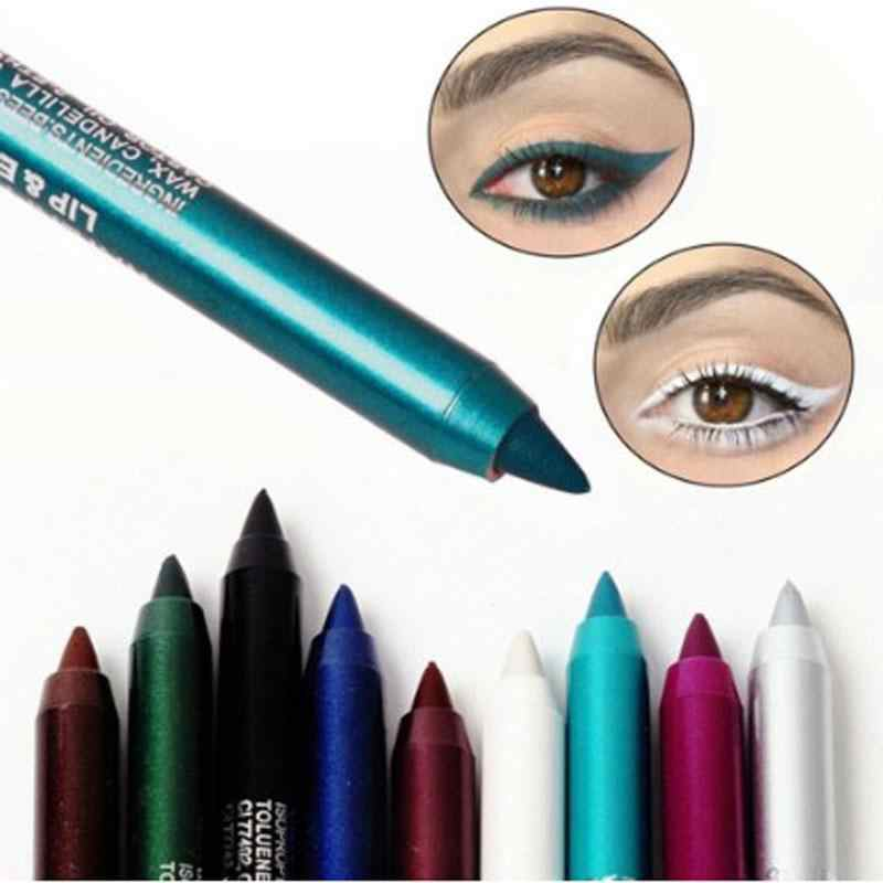 Hot Sale Colorful Eyeliner Pensil Tahan Air Tahan Eye Liner Pen Makeup Tahan Lama Easywear Eyeliner Warna Kosmetik