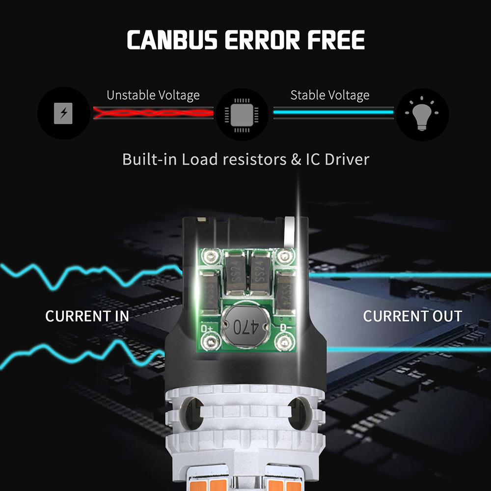 turn signal lâmpada t20 7440 wy21w w21w