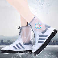 1 Pair Reusable Non-slip Rain Covers Shoes Waterproof high top cover shoes Silicone Shoe Cover Outdoor boots covers