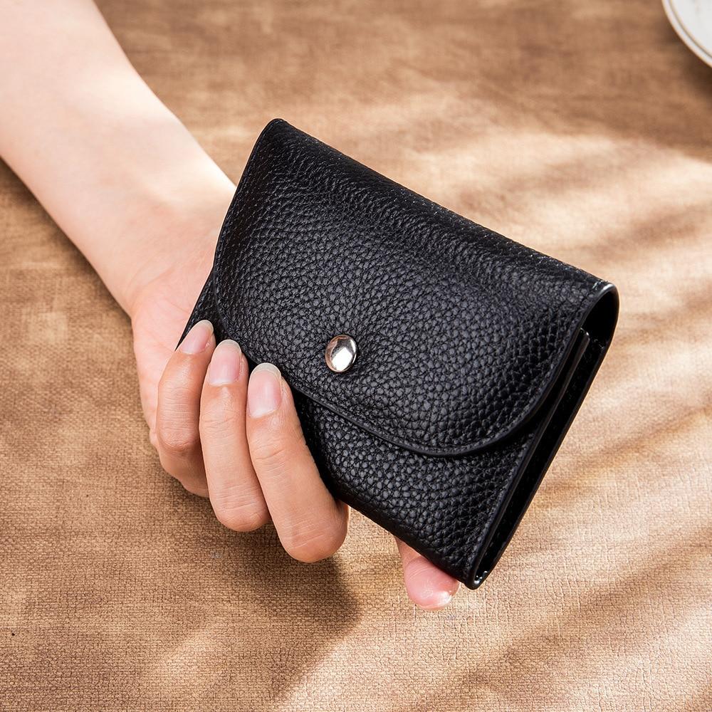 Genuine Leather Women Wallet Men's Women Casual Short Small Mini Wallets Slim Coin Purse Card Holder Zipper Coin Pocket Carteira