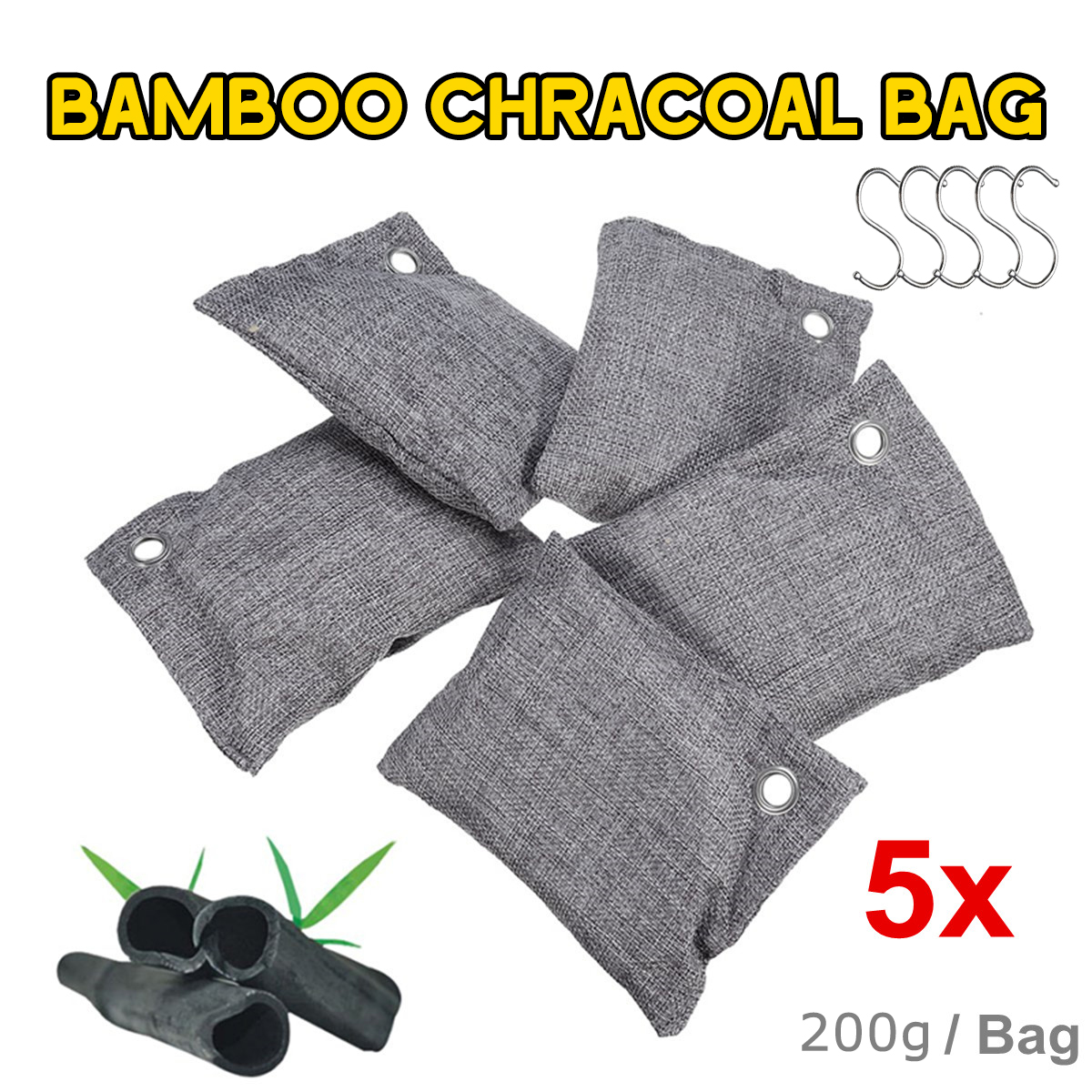 5 пакетов/набор, сумка для очистки воздуха, для автомобиля, дома, бамбуковый уголь, осушитель, для удаления запаха, сумка для очистки воздуха, ...
