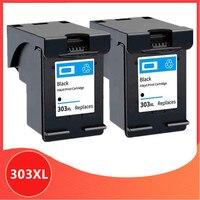 2 schwarz 303XL Kompatibel Tinte Patrone für hp 303 Ersatz Für hp 303 xl Envy Foto 6220 6230 6232 6234 7130 7134 7830 drucker
