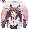 2020 New 3D Print Men Women Autumn Anime Nekopara Vanilla Cute Girls Sweatshirt Hooded Harajuku Hip Hop Hot Selling Tops HX209