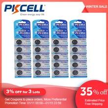 40PCS PKCELL CR2032 3Vแบตเตอรี่ปุ่มBR2032 DL2032 ECR2032 เซลล์แบตเตอรี่ลิเธียม 3V CR 2032 pilepilasแบตเตอรี่