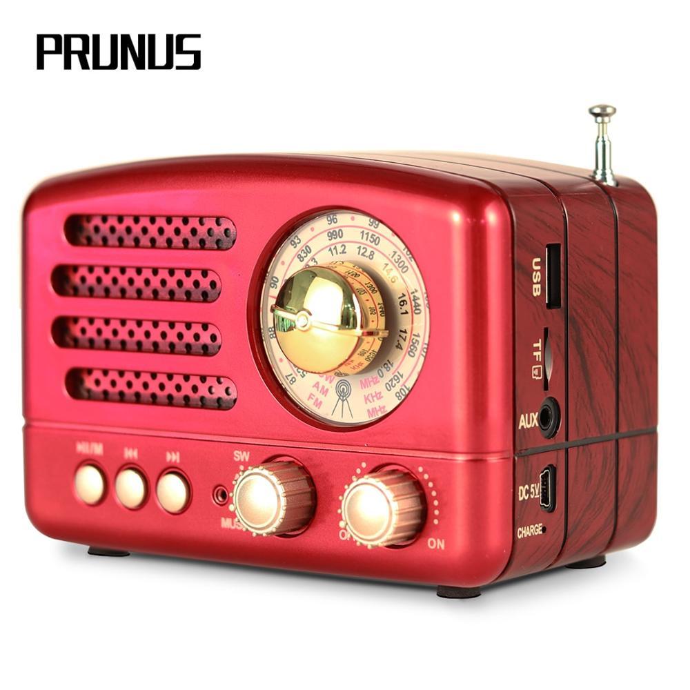 PRUNUS M-160BT Klassische Retro radio FM/AM/SW USB Bluetooth radio empfänger Wiederaufladbare AUX/TF karten MP3 stereo Lautsprecher Radios