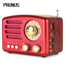 PRUNUS M 160BT clásico Retro, radio FM/AM/SW, receptor de radio USB, Bluetooth, recargable, tarjetas AUX/ TF, Radios de altavoz estéreo MP3
