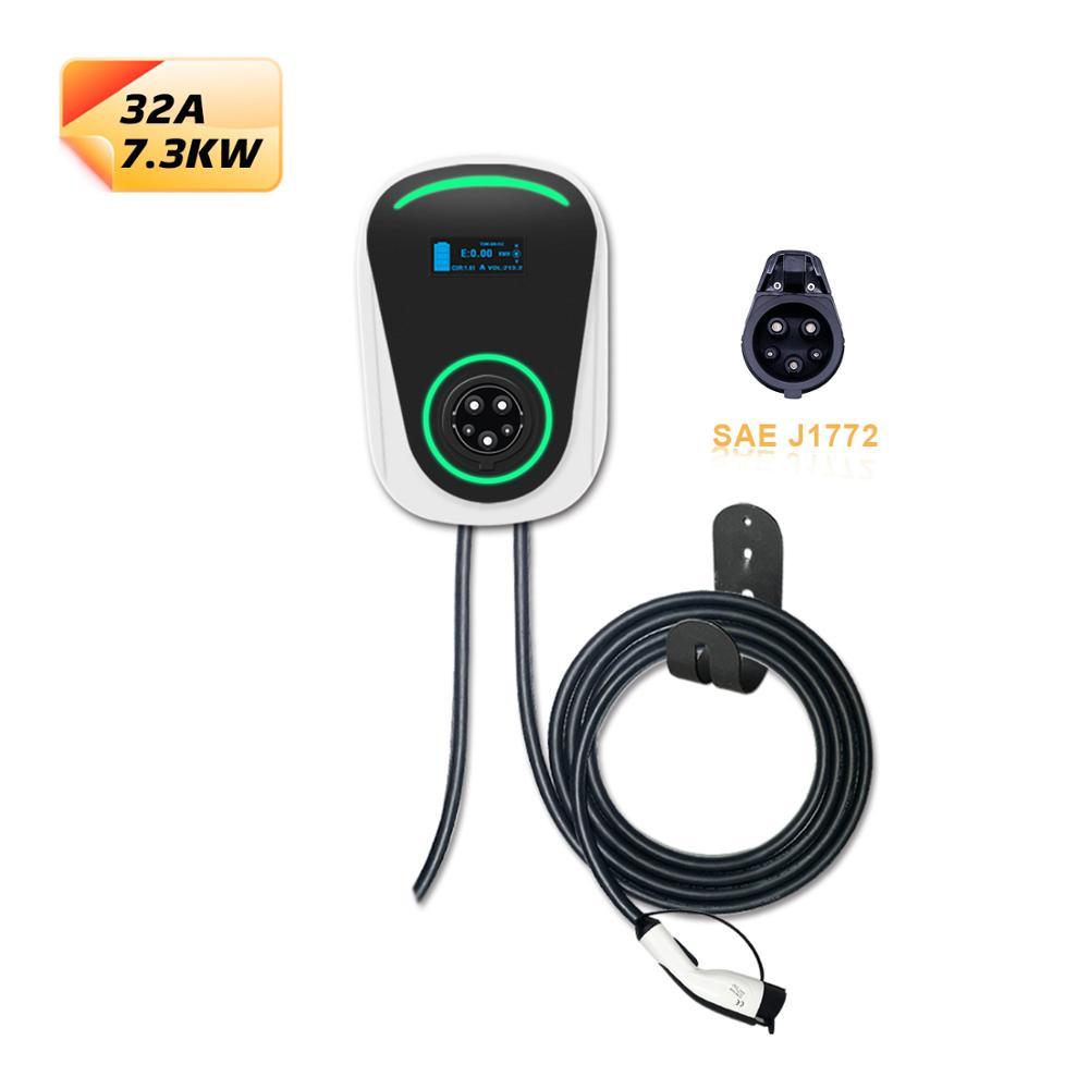 DUOSIDA 32A 7.2kW SAE J1772 EV зарядная станция Уровень 2 EVSE тип 1 удлинитель электромобиль зарядка Wallbox для Nissan Leaf|Кабели и коннекторы для батарей|   | АлиЭкспресс
