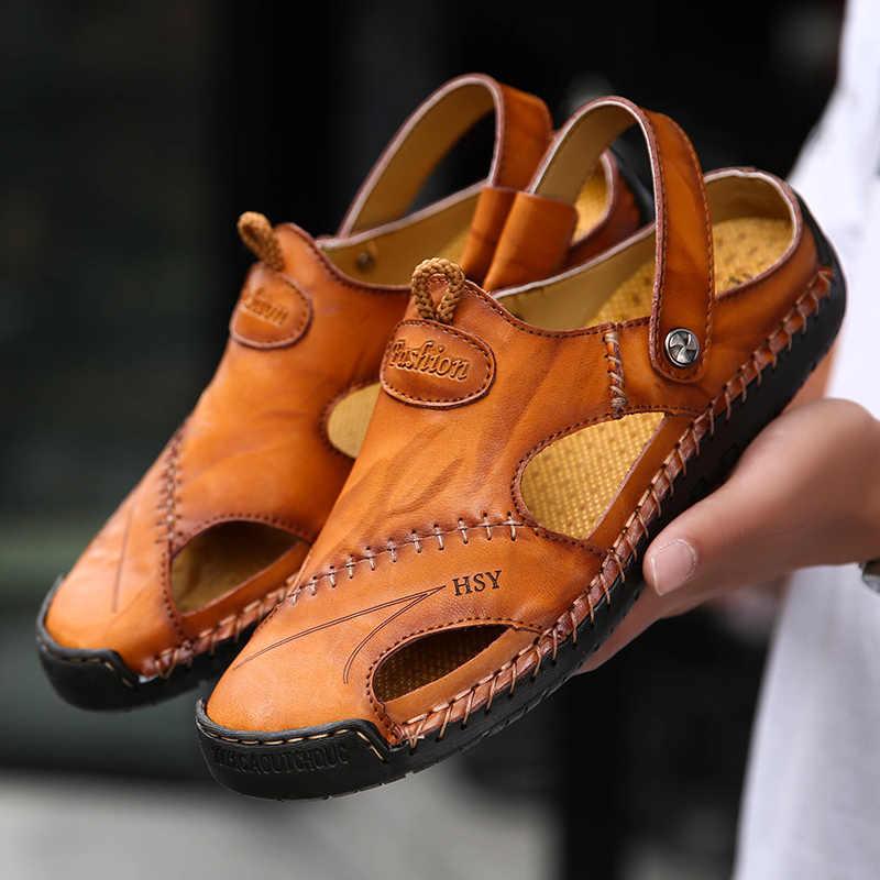 Nuovo Uomo A Piedi Sandali di Estate Degli Uomini Classici Scarpe Pantofole Flop di Vibrazione Della Spiaggia Degli Uomini di Modo All'aperto Slip On Pantofole per Il Tempo Libero Scarpe
