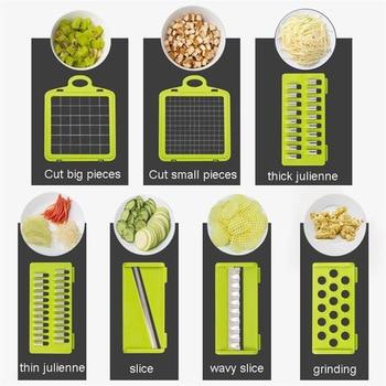 Mandoline Vegetable Fruit Slicer Grater Cutter Peeler Multifunctional Potato Peeler Carrot Grater Drain Basket Kitchen Tool 5