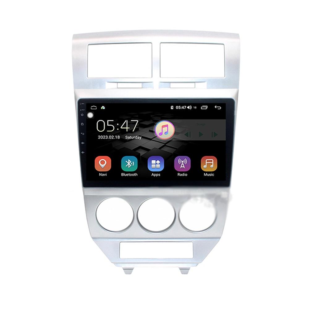 Eastereggs для Dodge Caliber 2007-2010 2.5D 10,1 дюймов Android 8,1 Автомобильный мультимедийный Видео Аудио FM BT GPS навигационный плеер