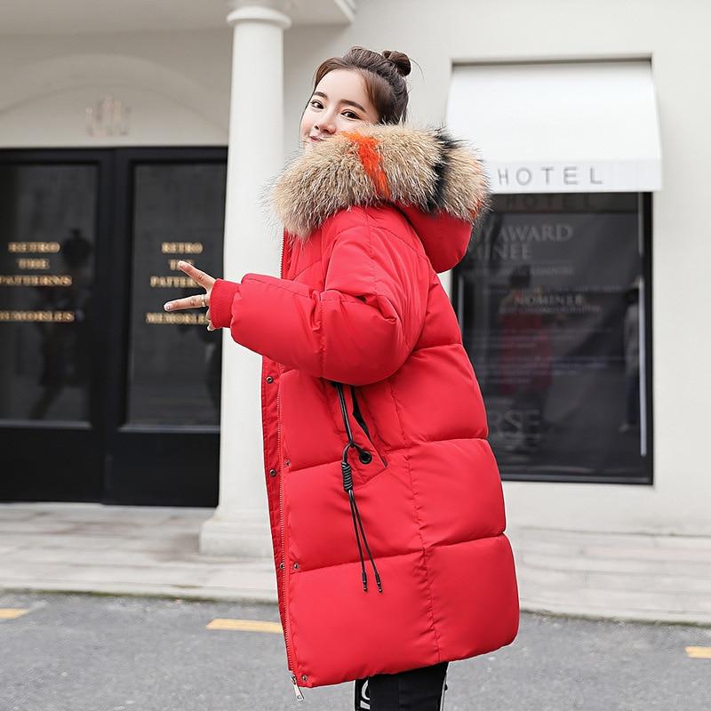 Winter jacket women 2019 new trend fur collar hooded women   parka   zippers long coats ladies warm casual tops jacket women coat