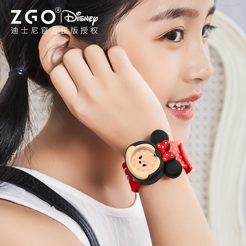 Оригинал Disney часы дети мужчины и женщины секс часы Микки Минни мультфильм кварцевые часы студент водонепроницаемый светящийся