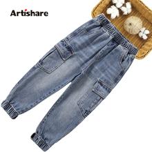 Dżinsy chłopięce jednokolorowe dżinsy dla chłopców wiosenne jesienne spodnie jeansowe dla dzieci w stylu Casual dżinsy dziecięce tanie tanio Artishare Na co dzień Pasuje prawda na wymiar weź swój normalny rozmiar 03N0274 Elastyczny pas Chłopcy Stałe REGULAR