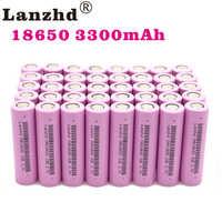 (8-80 pces) 18650 para samsung 18650 baterias recarregáveis 3.7 v 18650 30a 33e lítio li ion 18650vtc7 capacidade real 3300 mah li-ion