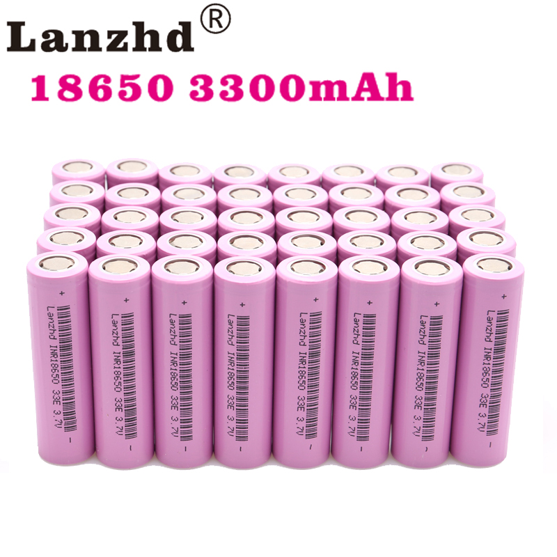(8-80pcs)18650 For Samsung 18650 Rechargeable Batteries 3.7V 18650 30A 33E Lithium Li Ion 18650VTC7 Real Capacity 3300mAh Li-ion