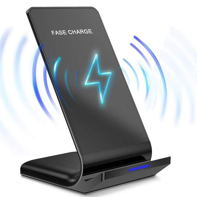 DCAE Qi Wireless Charger Stand for iPhone 11 X XS 8 XR Airpods Samsung S9 S10 Note 9 10W Fast Charge Quick Charging Dock Station