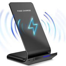 Беспроводное зарядное устройство DCAE Qi для iPhone 11 X XS 8 XR Airpods Samsung S9 S10 Note 9 10 Вт Быстрая Зарядка Док станция