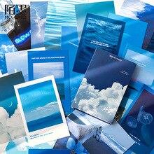 Cards-Envelopes-Card Postcards Kind Wishing Gifts Greeting 30-Sheets/Set of Blue