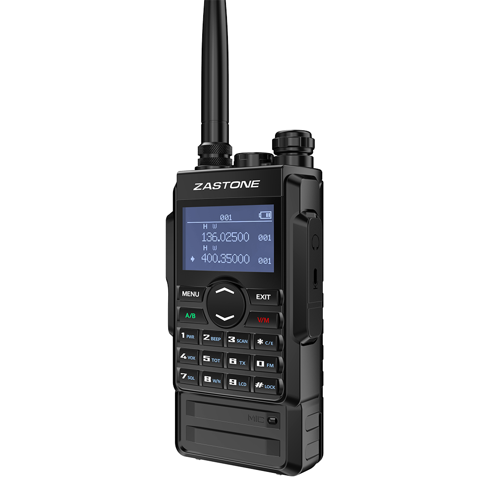 Zastone M7 dual band 5W walkie talkie 136-174 400-480mhz 250 channels 2600mah battery hf transceiver ham radio 3