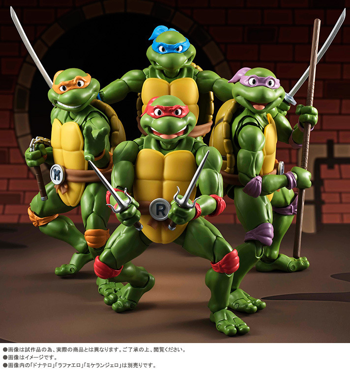 Teenage Mutant Ninja Turtles Leonardo Donatello Raphael Michelangelo Mobile Garage Kit