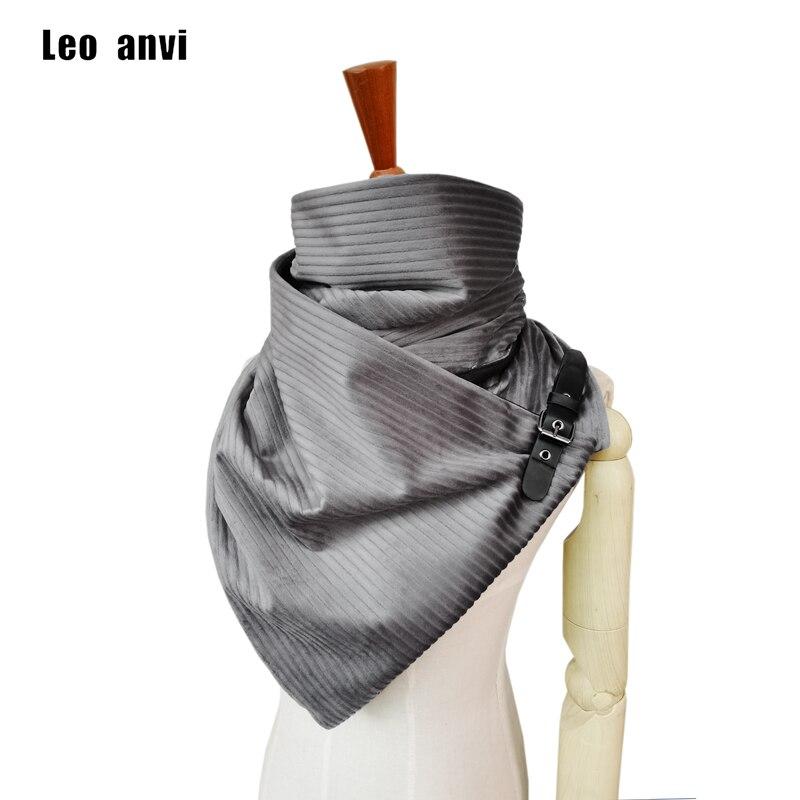 Luxury Handmade Cashmere Scarf Women Fashion Design Stripe Shawl Foulard Femme Poncho With Leather Buckle Bufandas Mujer