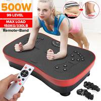 150KG/330lb Vibration Machine 220V 500W Exercise Platform Massager Body Fitness with Remote&band exercise fitness equipment