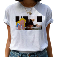 Pulp Fiction Harajuku Aesthetic Vintage T Shirt Women Mia Wallace Funny Cartoon Tshirt 90s Grunge Ts